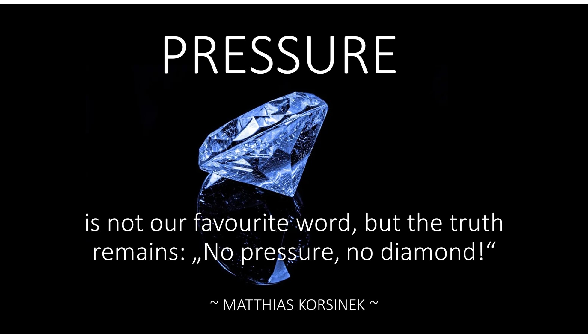 PRESSURE is not our favourite word but jpg